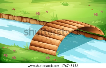 illustration of a wooden bridge
