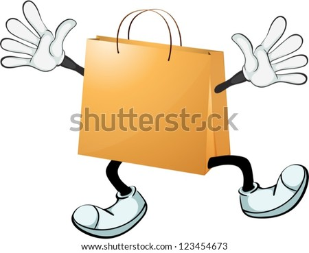 illustration of a yellow bag on
