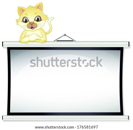 illustration of a  yellow cat