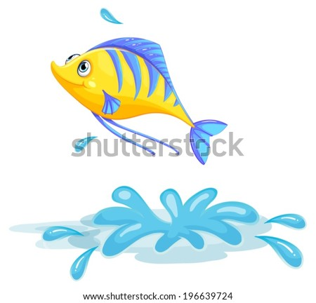 illustration of a yellow fish
