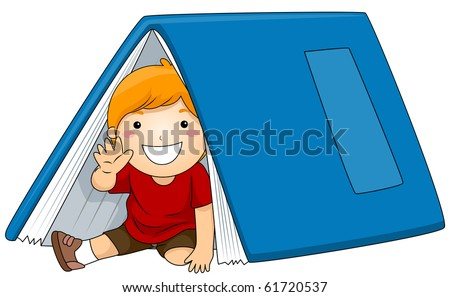 stock-vector-illustration-of-a-young-boy-sitting-under-a-big-book-vector