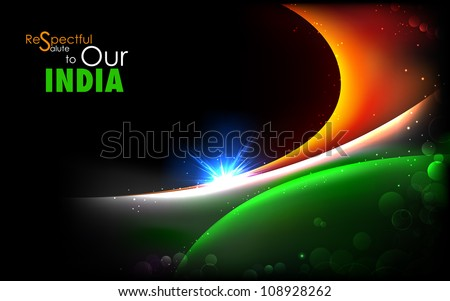 illustration of abstract background in Indian tricolor