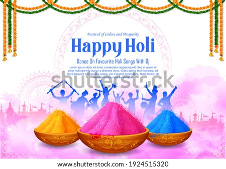 illustration of abstract colorful Happy Holi background card design for color festival of India celebration greetings