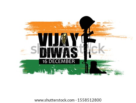 illustration of abstract concept for   Victory Day, Vijay diwas ,16 December in India