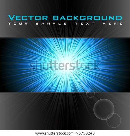 illustration of abstract flash background with starburst