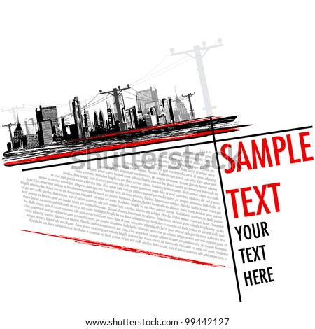 illustration of abstract grungy city background