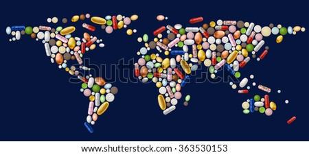 illustration of abstract world