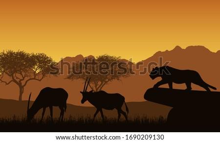 illustration of african