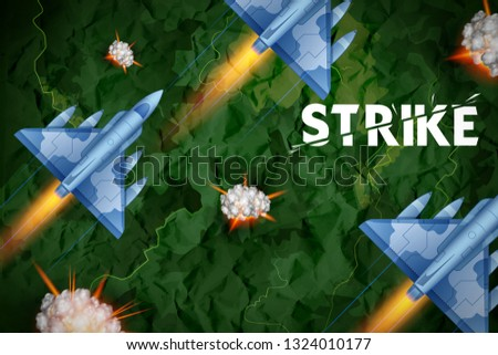 illustration of air strike with