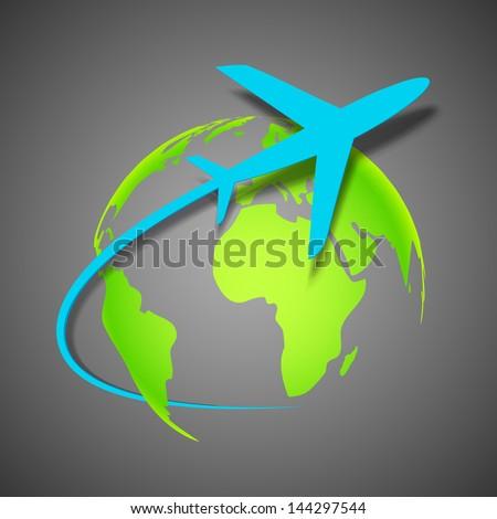 illustration of airplane around