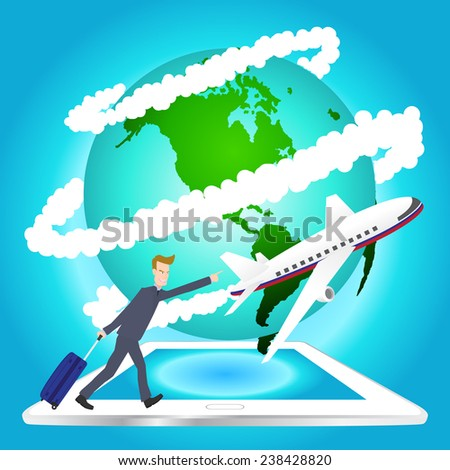 illustration of airplane travel