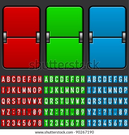 Illustration of an airplane departure board. RGB.