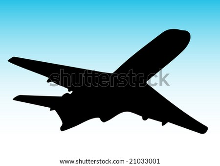 illustration of an airplane flying
