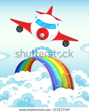 illustration of an airplane