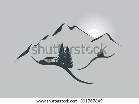 illustration of an alpine