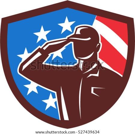 illustration of an american