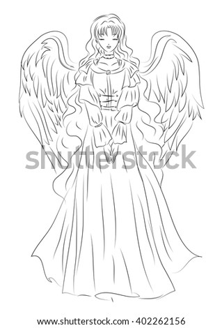 illustration of an angel in a