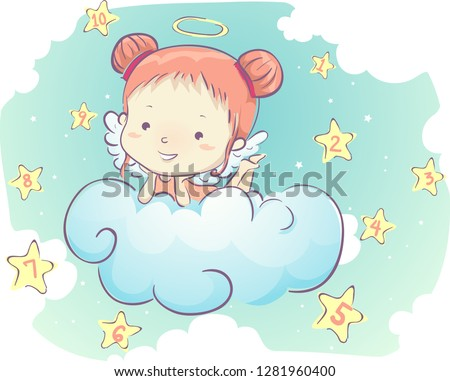 illustration of an angel kid