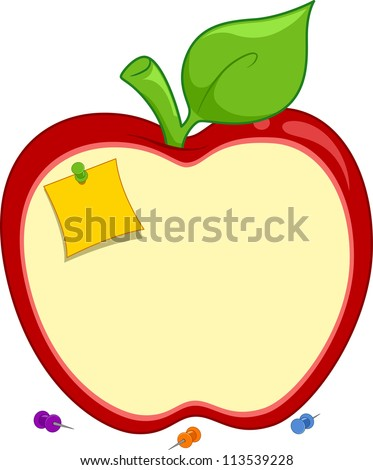 illustration of an apple shaped