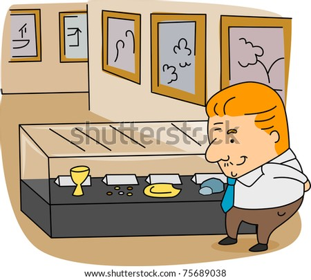 Illustration of an Archivist at Work
