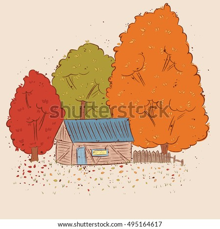 illustration of an autumn