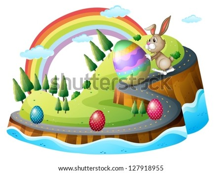 illustration of an easter day