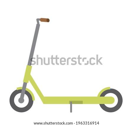 Illustration of an electric kickboard. Sports, entertainment, transportation, vector data. Foto stock ©