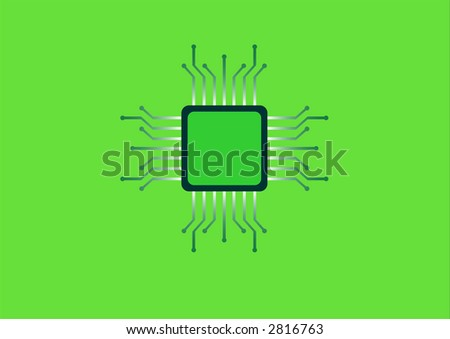 illustration of an electronic chip