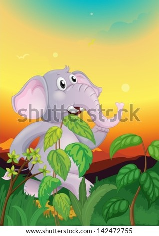 illustration of an elephant