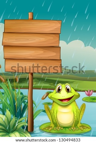 Illustration of an empty board with a green frog