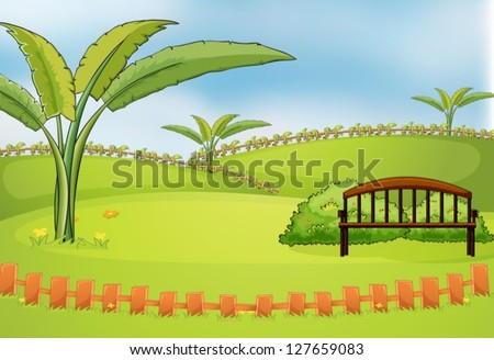 illustration of an empty park