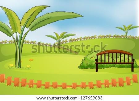 illustration of an empty park
