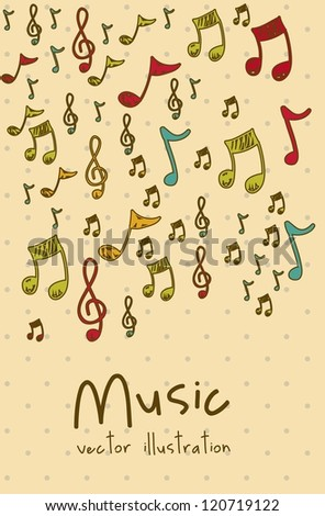 Illustration of an icon of music, instruments, vector illustration