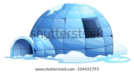 illustration of an igloo on