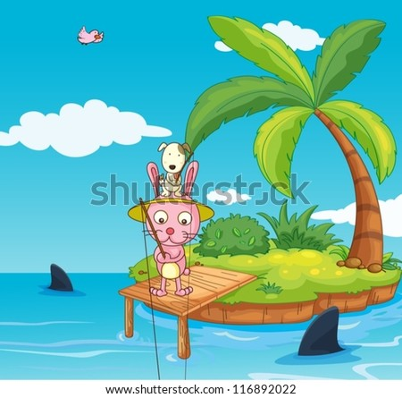 illustration of an island in a