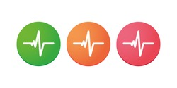 Illustration of an isolated heart beat icon set