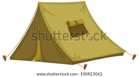 Illustration of an isolated tent - stock vector