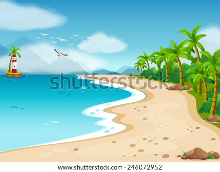 illustration of an ocean view