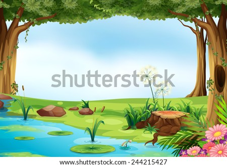 illustration of an outdoor