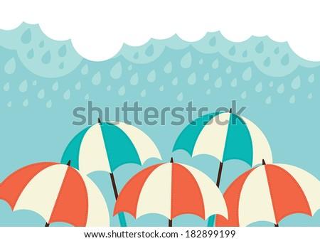 illustration of an umbrellas