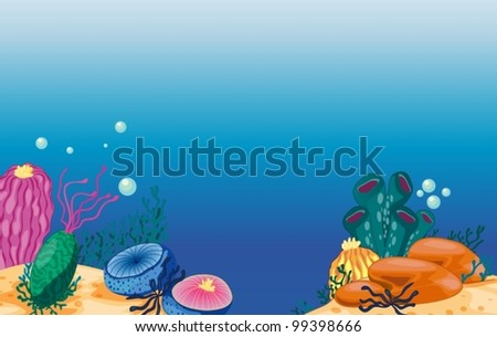 Illustration of an underwater world