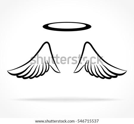 illustration of angel wings on