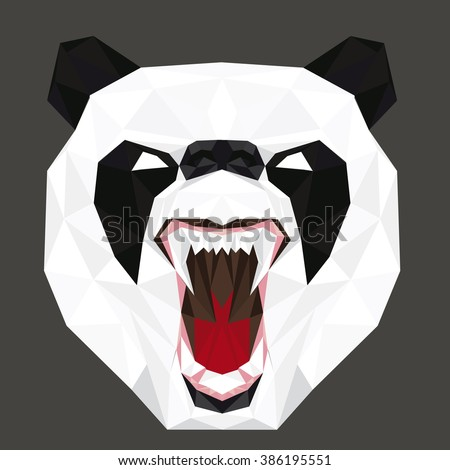 Illustration of angry panda