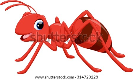 illustration of ant cartoon on