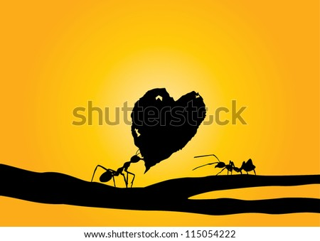 illustration of ant giving