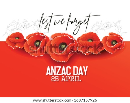 illustration of anzac day