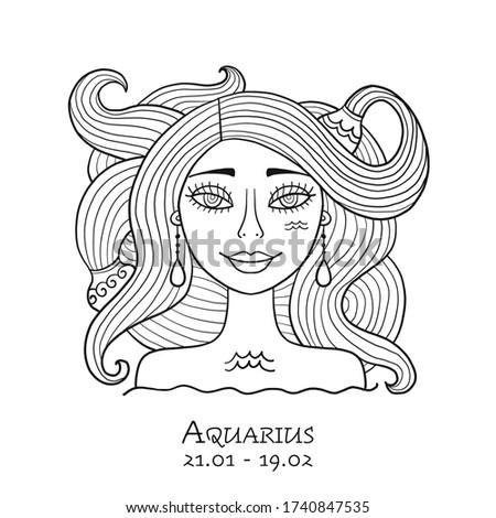 illustration of aquarius zodiac