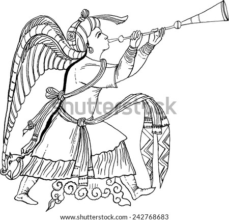illustration of archangel