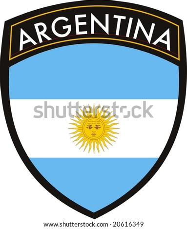 illustration of argentina vector patch flag