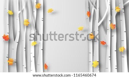 illustration of autumn with